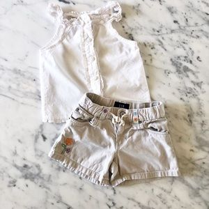 GAP KIDS / CHEROKEE SHORTS AND TOP